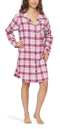 Flanell-Nachthemd für Damen - Moonline, Farbe:pink;Größe:44/46