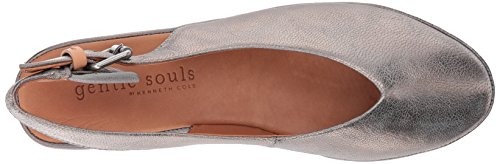 Leather Cole Pewter Souls Noemi Toe Women's Gentle Kenneth Flat Low Wedge by Slingback Round PtBwqnaO