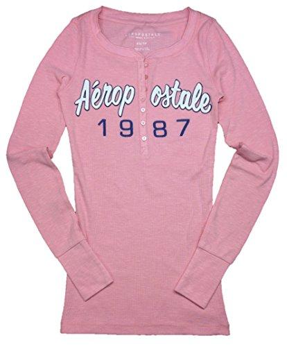 Aeropostale Womens Sleeve Henley Shirt