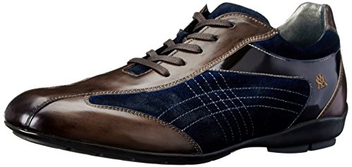 Mezlan Men's Vega Fashion Sneaker, Brown/Navy, 9 M - Vegas Las Fashion Mens