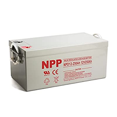 NPP 12V 250 Amp NPD12 250Ah Rechargeable Sealed Lead Acid Deep Cycle Battery With Button Style Terminals