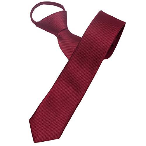 (Mumusung Men's Solid Color Slim Skinny Tie 2