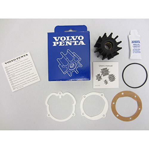(Volvo Penta OEM Water Pump Impeller Kit 21951346 (repl. 3862281 3858256 876243))