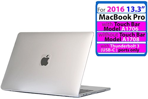 iPearl mCover Hard Shell Case for New 2016 13-inch Model A1706 / A1708 MacBook Pro (Clear) (Macbook Pro 13 Hard Case Ipearl)