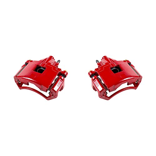 CK01019 [ 2 ] FRONT Performance Grade Red Powder Coated Semi-Loaded Caliper Assembly Pair Set