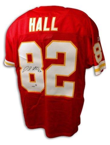 Autographed Hand Signed Dante Hall Kansas City Chiefs Red Reebok Jersey - APE COA