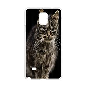 Nuktoe Farm Cat Samsung Galaxy Note 4 Cases for Guys, Samsung Galaxy Note4 Case for Women [White]