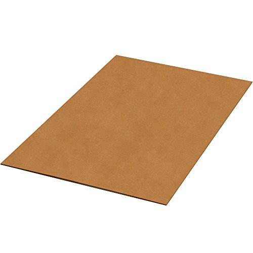 BOX USA BSP4860DWSK Double Wall Corrugated Sheets, 48'' W x 60'' L, Kraft (Pack of 180) by BOX USA