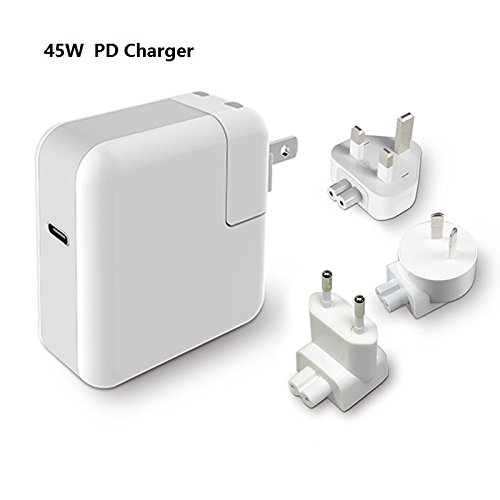 45W Type-C QC4.0 Power Delivery Wall Charger Adapter US UK EU AU Plug PD Power Adaptor for Nintendo Switch Apple MacBook / Pro iPad Google Chromebook iPhone X 8 Plus Samsung Galaxy Note8 S8+ &More
