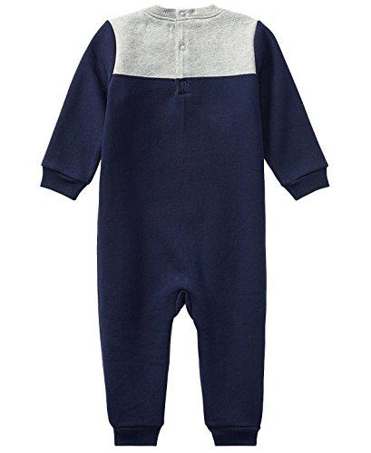 Ralph Lauren Baby Boys L/S Cotton-Blend-Fleece Coverall (3 Months, French Navy)