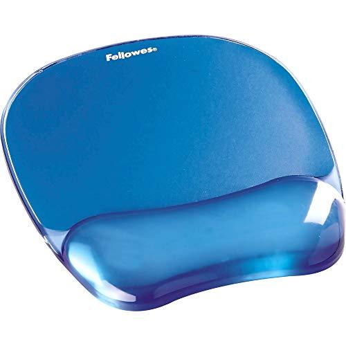 Fellowes Gel Crystal Mousepad/Wrist Rest, Blue