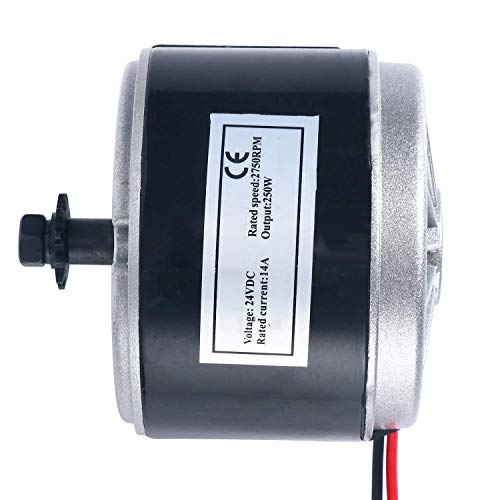YaeTek 24V Electric Motor Brushed 250W 2750RPM Chain for E Scooter Drive Speed - Electro Motors