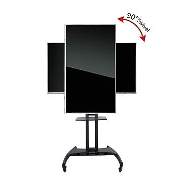 Soporte de Piso de Carro de TV móvil, Horizontal y Vertical de la Pantalla Cambiar