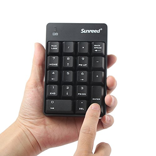 Sunreed Numeric Keypad & Mouse Combo, 2.4G Wireless Mini USB Number Pad Keyboard and Mouse for Laptop Desktop Notebook - Just One USB Port by Sunreed (Image #3)