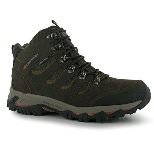 Karrimor Mens Mount Mid Walking Boots Shoes Breathable Lace Up Hiking Trekking Brown oFU9g