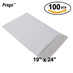 Progo Progo 100 Ct 19x24 Extra Large Self-seal Poly Mailers. Tear-proof, Water-resistant & Postage-saving Lightweight Plastic Shipping Envelopes Bags 19 X 24 Inch.