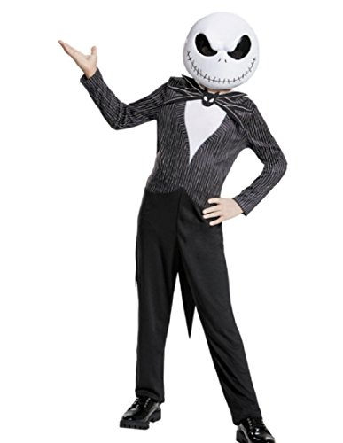 Jack Skellington Child Classic Nightmare Before Christmas Disney Costume, (Kids Nightmare Before Christmas Costume)