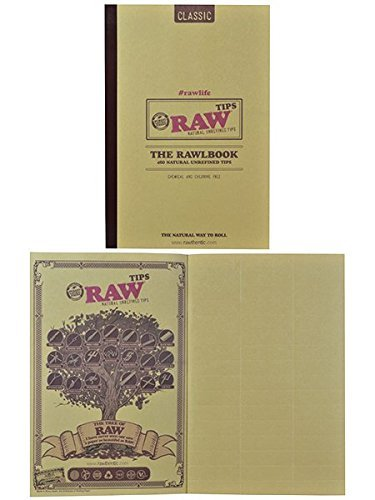 raw classic rawlbook 480 count book of natural unrefined rolling tips