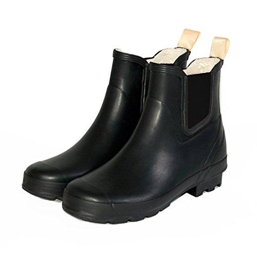 Spats Womens Spats Chelsea Boot Plain Black