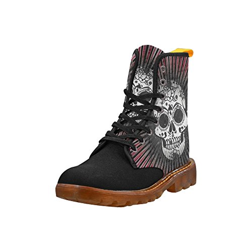 Leinterest Skull With Lightbeams Martin Boots Fashion Shoes Voor Dames