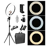 Photo : Zomei 18-inch LED Ring Light 50W 3200-5500K White Color and Orange Color Changing Directly Lighting Kit with Tripod Stand Ball Head and Phone Adapter for Camera Smartphone Youtube Video Shooting