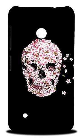 Foxercase Designs Pink Floral Flower Skull Hard Back Case Cover for Nokia Lumia 530 (Nokia Lumia 530 Back Cover Skulls)