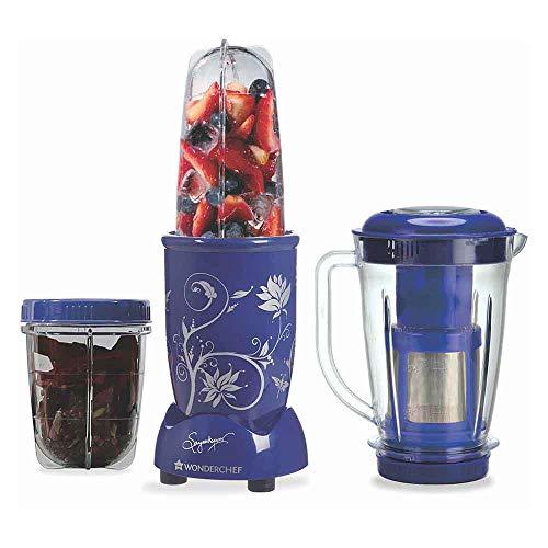 Wonderchef Nurti-Blend, 400-Watt Mixer Grinder with Juicer 3 Jars (Blue)