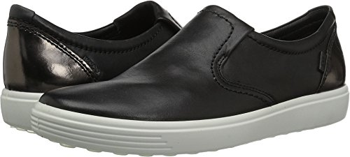 ECCO Women's Women's Soft 7 Slip on Fashion Sneaker, Black/Black/Dark Clay, 38 EU/7-7.5 M US by ECCO