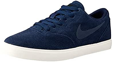 Nike Australia Boys SB Check Suede (GS) Fashion Shoes, Midnight Navy/Midnight Navy-Black, 3.5 US