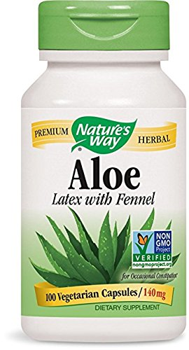 033674101506 - Nature's Way Aloe Latex with Fennel 140 mg, 100 Vcaps carousel main 0