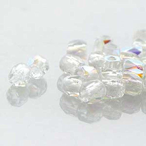 Fire Polish True2s 2mm Czech Glass Crystal Ab 600 Beads Loose