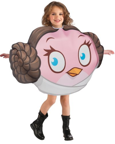 [Angry Birds Star Wars Princess Leia Child's Costume Tunic, One Size] (Blue Bull Mascot Costume)