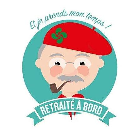 12 cm Autocollant retrait/é /à bord basque stickers adh/ésif Taille
