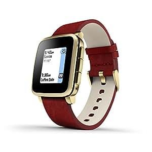 Pebble Time Steel - Smartwatch (128 MB RAM, Li-ion, Android, 4.0, Bluetooth 4.0), color dorado