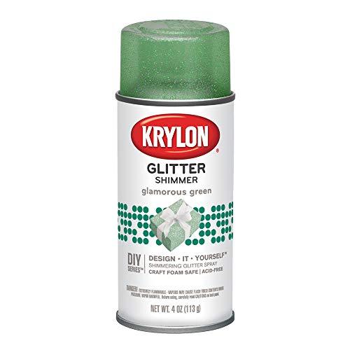Krylon I00404 Glitter Aerosol Spray, Glamorous Green