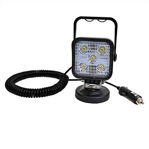 LED Arbeitsscheinwerfer 12/24 Volt 5 Led´s 3 Meter Spiralkabel Magnetfuß IP67 ProPlus