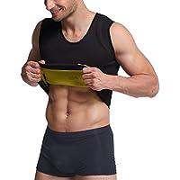 LTSnake Mens Hot Sweat Body Shaper Tank Top Tummy Fat Burner Slimming Sauna Vest Weight Loss Shapewear Neoprene
