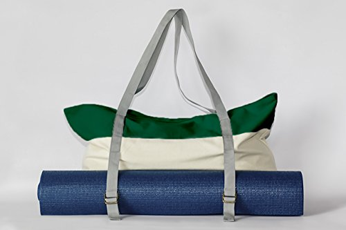 Peak To Prairie Soft Canvas Yoga Mat/Gym Tote Bag - Lush Meadow Green
