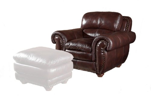 (Aspen Leather Chair by Leather Italia USA)