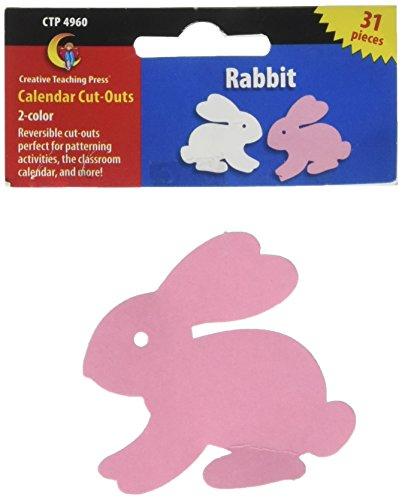 Creative Teaching Press Two-Color Calendar Cut-Outs, Rabbit