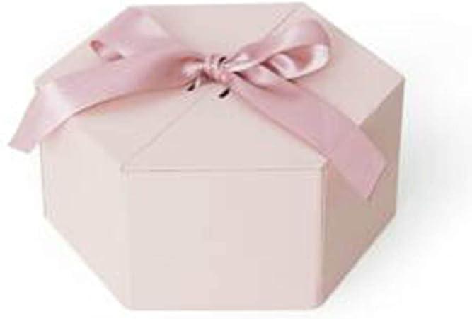 ISKYBOB Caja de Flores hexagonales Grandes Cajas de Regalo de cartón con Cinta para arreglos Florales, Soporte de Regalo de Boda, Expositor de Joyas: Amazon.es: Hogar