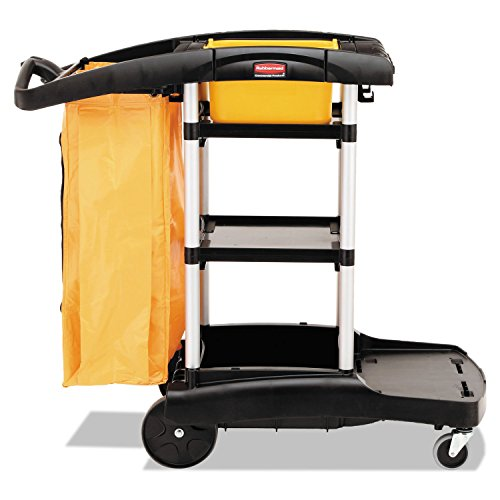 Rubbermaid Commercial Products Cleaning Cart,High Cap,4 Casters,21-3/4''x49-3/4''x38-3/10'' by Rubbermaid Commercial