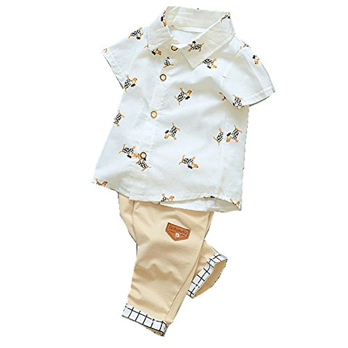 ftsucq-little-boys-cartoon-button-down-shirt-top-with-pants-two-pieces-setswhite-110