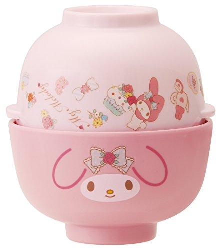 Melamine bowl and soup bowl set My Melody MCW1 - Melody Soup