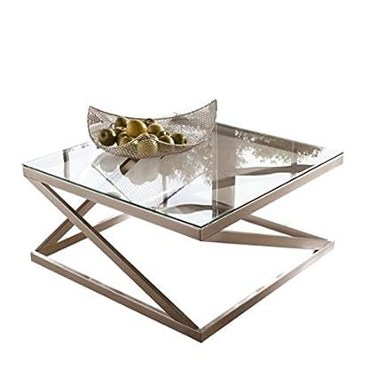 Ashley Furniture Signature Design U2013 Coylin Square Cocktail Table U2013 Contemporary  Glass Coffee Table U2013 Silver