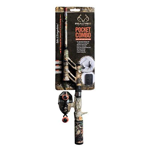 STEINHAUSER Spincast Combo. Realtree Camo 30 Light/PCMSRT18 (Camo Fishing Pole)