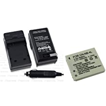 Everydaysource Compatible With Canon ELPH 100 300 HS PowerShot SD30 SD300 - NB-4L NB4L Battery+ Charger