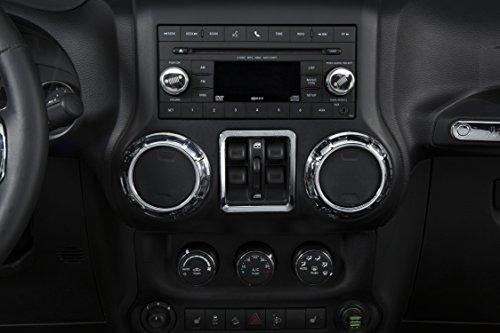 Opar Silver Air Conditioning Vent Cover Trim for 2011 - 2018 Jeep JK Wrangler & Unlimited - 4PCS/Set