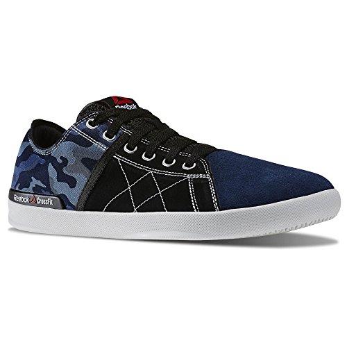 Reebok Mens Crossfit Lite Lo TR CMO Camo Fitness Shoe Black Faux Indigo Blue Slate Vital Green (9)