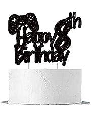 GmakCeder Video Game Cake Topper 8 Year Old Birthday Cake Decoration